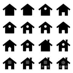 House icon set. Vector Illustration
