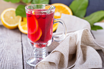 Cranberry orange punch with cinnamon