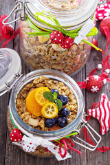 Homemade granola as present
