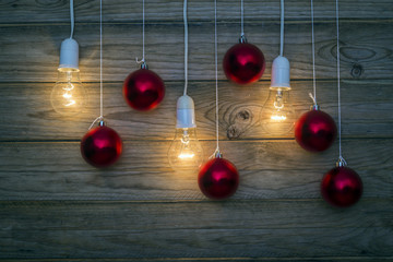 Light and red balls
