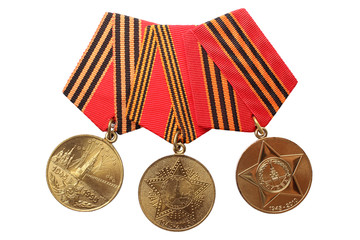"RUSSIA-1995,2005,2010: Medals ""Victory in Great Patriotic War"""