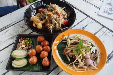 North east style Thai foods