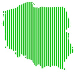 Map of Poland green_lines
