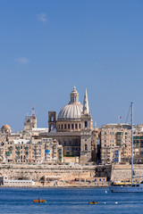 Valletta Skyline with dome at background