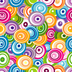 Seamless pattern with varicolored circles