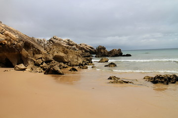 Sand beach in Baleal, Portugal