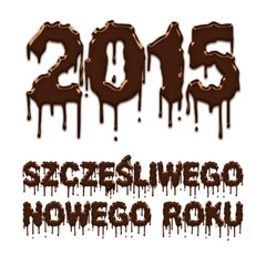 Happy New Year 2015 chocolate polish poster
