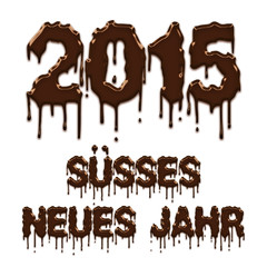 Sweet New Year 2015 chocolate german poster