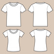 Set Of Blank Male And Female Shirts - 71528763