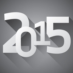 2015. New year, numbers, sample for your Christmas cards