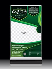 Golf Roll up Banner