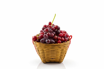 Fresh Red Grape in basket .