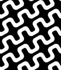 Abstract Simple Diagonal Square Zig Zag Vector Seamless Pattern