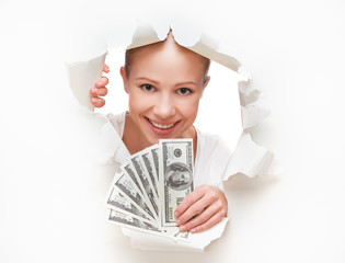 financial concept, woman with money