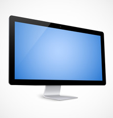 Computer display with blue screen
