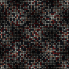Halftone Dots Vintage Colors Style Vector Seamless Pattern