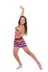 Dancing young girl