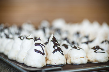 classic sweet meringue with chocolate