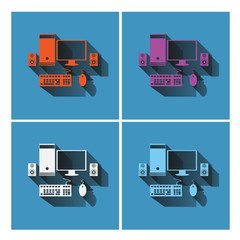 Computer  icons set design , illustration vector