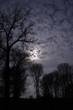 canvas print picture - Wolken bei Nacht