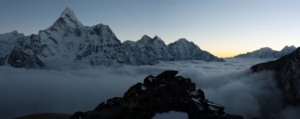 evening or night view of Ama Dablam