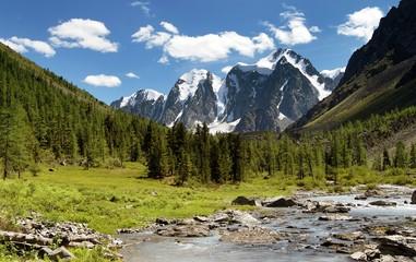 savlo szavlo valley and rock face - altai