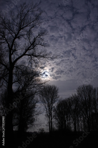 canvas print picture Wolken bei Nacht