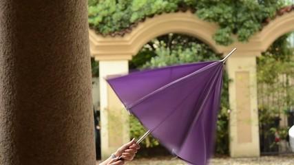 aprire l'ombrello