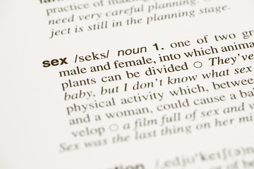 Definition word sex in dictionary