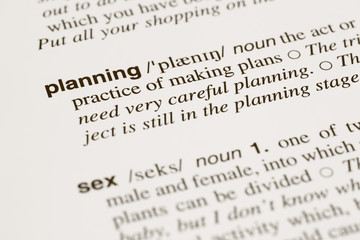 Definition words planning and sex in dictionary