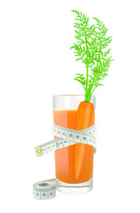 Carrot juice with meter