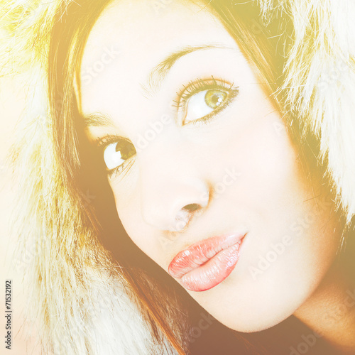 canvas print picture warm woman portrait