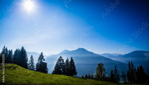 canvas print picture Berglandschaft bei Brixen im Thale, Tirol