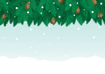 Vector christmas card with copy space for text