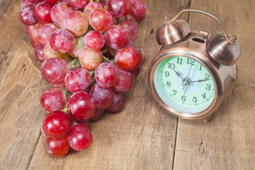 grape with clock