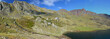 Panorama of the autumn Pyrenees-Atlantiques