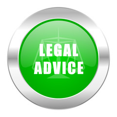 legal advice green circle chrome web icon isolated