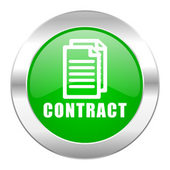 contract green circle chrome web icon isolated