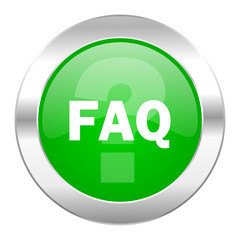 faq green circle chrome web icon isolated