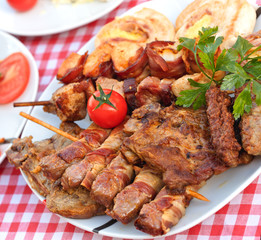 Grilled meat - tasty meal