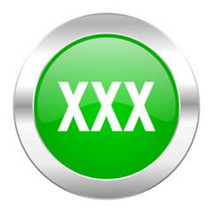 xxx green circle chrome web icon isolated
