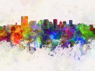 Richmond skyline in watercolor background