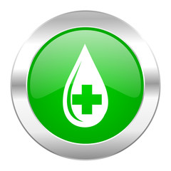 blood green circle chrome web icon isolated