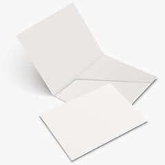 white empty open folder template