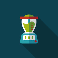 juice machine flat icon with long shadow,eps10