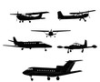 airplane silhouettes - vector - 71534353