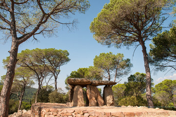 Dolmen Pedra Gentil, Catalonia, Spain