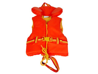 Red Life Jacket Isolated