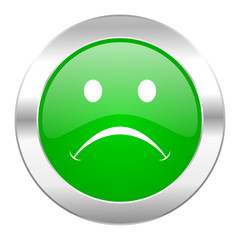 cry green circle chrome web icon isolated