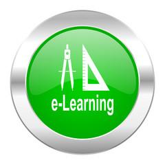 larning green circle chrome web icon isolated